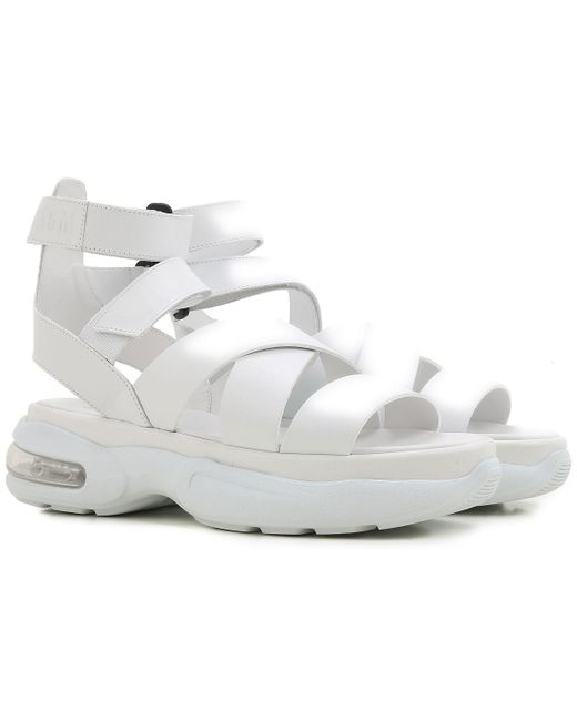 MSGM - White Sandals For Women On Sale In Outlet - Lyst