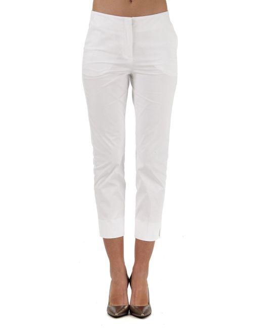 Giorgio Armani - White Pants For Women On Sale - Lyst