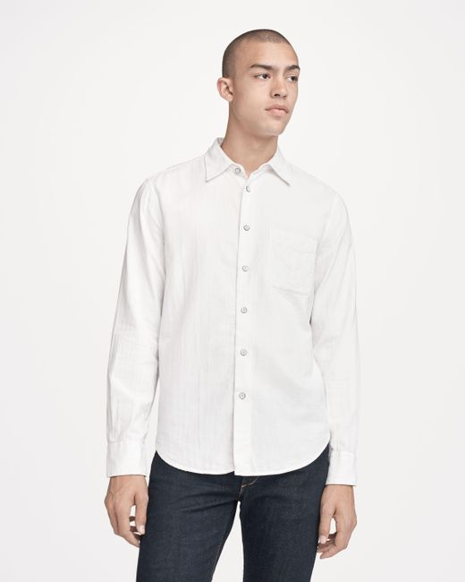 Rag & Bone | White Fit 3 Standard Issue Beach Shirt for Men | Lyst