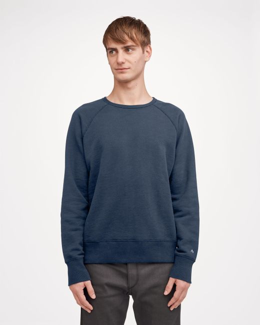 Rag & Bone - Blue Standard Issue Crew Sweatshirt - Lyst