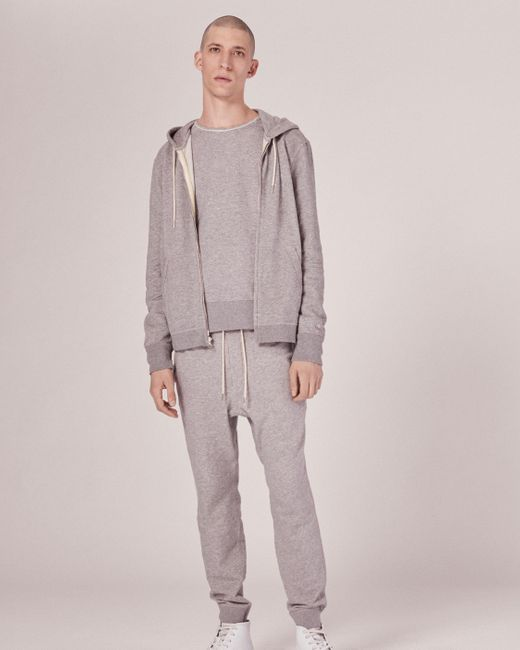 Rag & Bone | Gray Standard Issue Zip Hoody for Men | Lyst