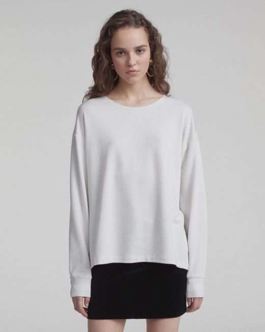 Rag & Bone - Gray Reily Splitback Long-sleeve - Lyst