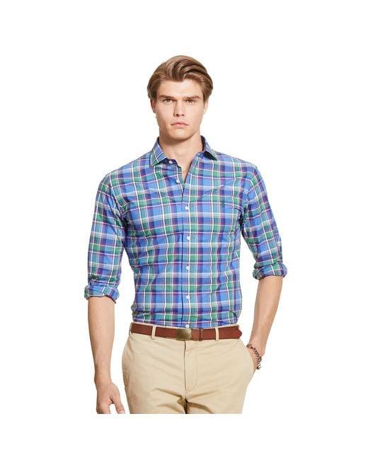 Polo Ralph Lauren | Blue Men's Plaid Estate Shirt for Men | Lyst