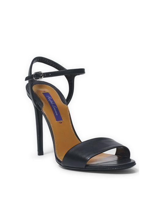 Ralph Lauren | Black Blianna Calfskin Sandal | Lyst