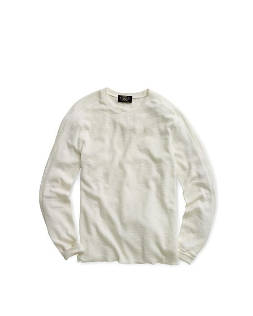 RRL | White Textured Crewneck for Men | Lyst