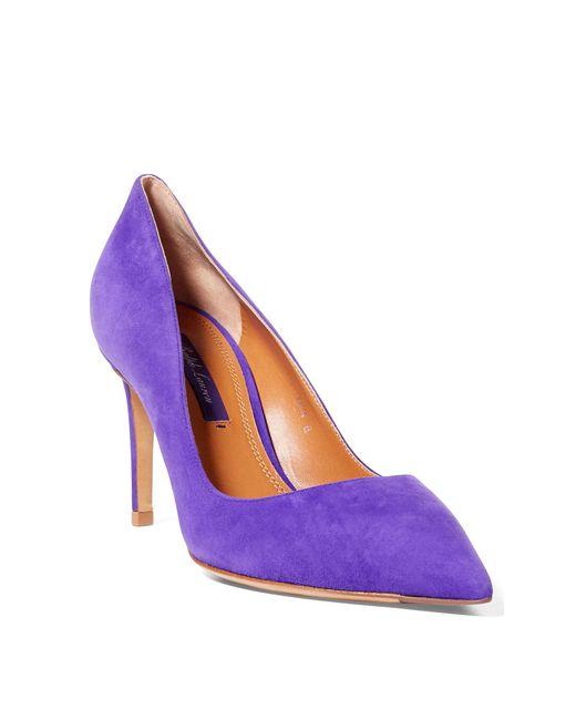 Ralph Lauren | Purple Armissa Suede Pump | Lyst