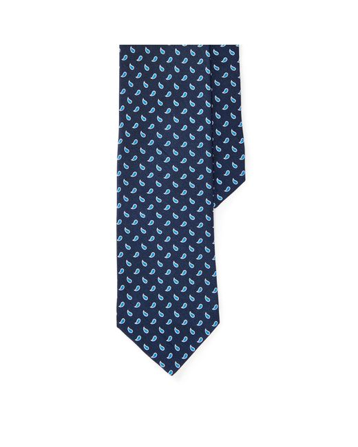 Polo Ralph Lauren | Blue Neat Silk Shantung Narrow Tie for Men | Lyst