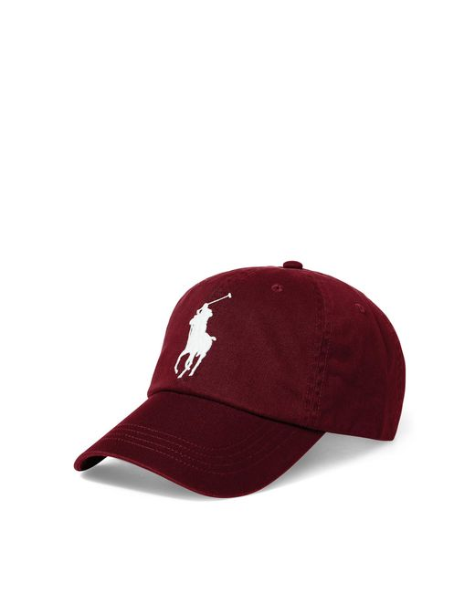 Polo Ralph Lauren | Red Big Pony Chino Baseball Cap for Men | Lyst