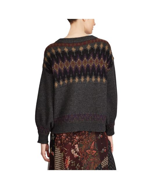 Polo ralph lauren Fair Isle Wool-blend Sweater in Gray - Save 56 ...