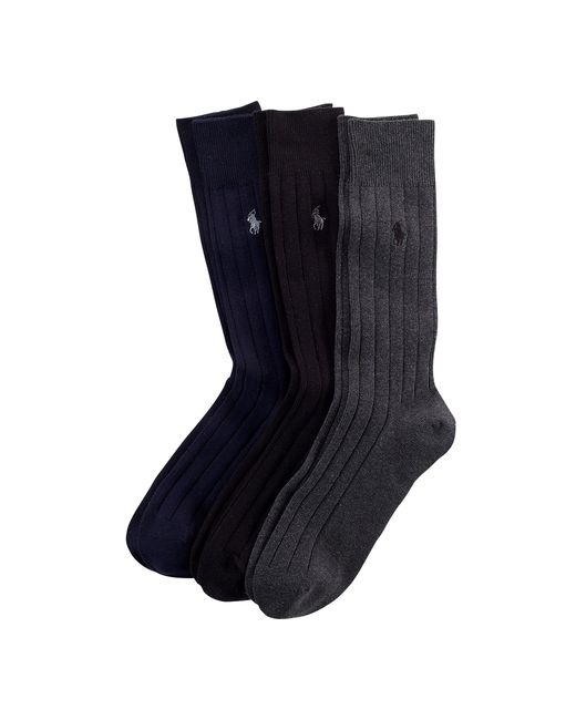 Polo Ralph Lauren | Black Combed Cotton Rib Sock 3-pack for Men | Lyst