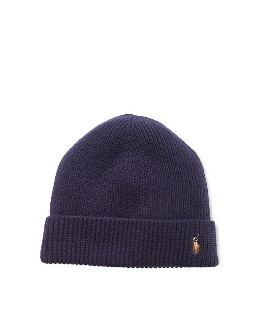 Polo Ralph Lauren | Blue Signature Merino Cuff Hat for Men | Lyst