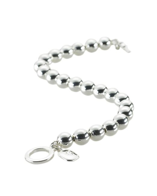 Pink Pony | Metallic Silver-plated Ball Bracelet | Lyst