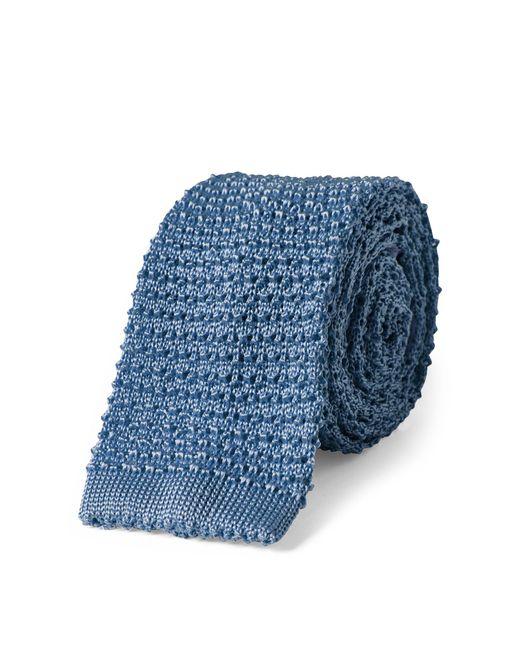 Polo Ralph Lauren - Blue Knit Silk Narrow Tie for Men - Lyst
