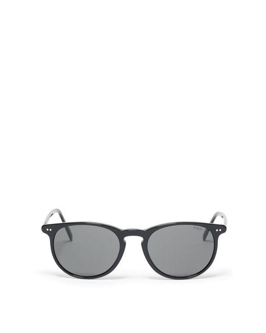 Polo Ralph Lauren | Black Thin Round Sunglasses for Men | Lyst