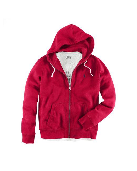 Polo Ralph Lauren | Red Classic Fleece Hoodie for Men | Lyst