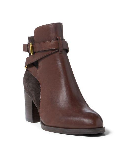 Ralph Lauren   Brown Gersha Leather-suede Boot   Lyst