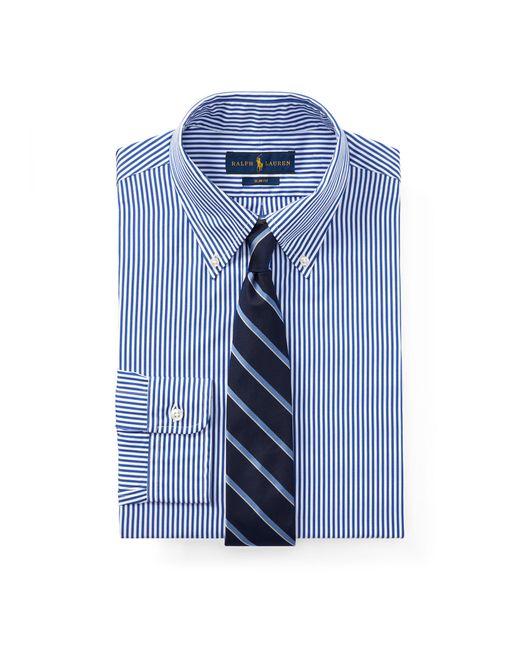 4335e981b8 Polo Ralph Lauren - Blue Slim Fit Striped Shirt for Men - Lyst ...