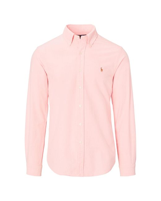 Polo Ralph Lauren | Pink Slim-fit Cotton Oxford Shirt for Men | Lyst