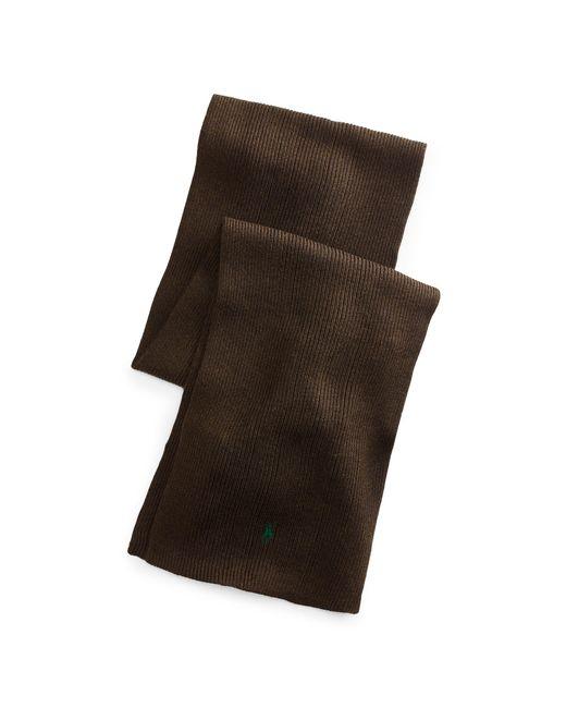 Polo Ralph Lauren | Brown Rib-knit Wool Scarf for Men | Lyst