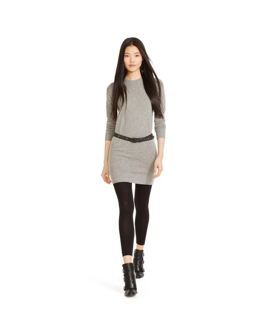 Polo Ralph Lauren | Gray Cashmere Sweater Dress | Lyst