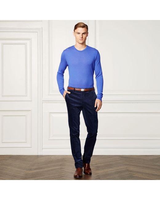 Ralph Lauren Purple Label | Blue Cashmere Crewneck Sweater for Men | Lyst