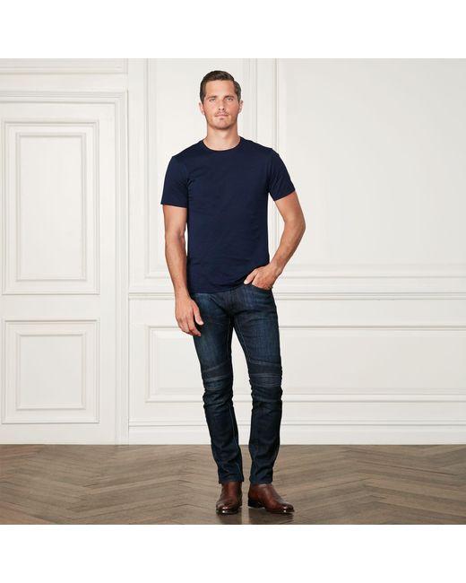 Ralph Lauren Purple Label - Blue Cotton Lisle T-shirt for Men - Lyst