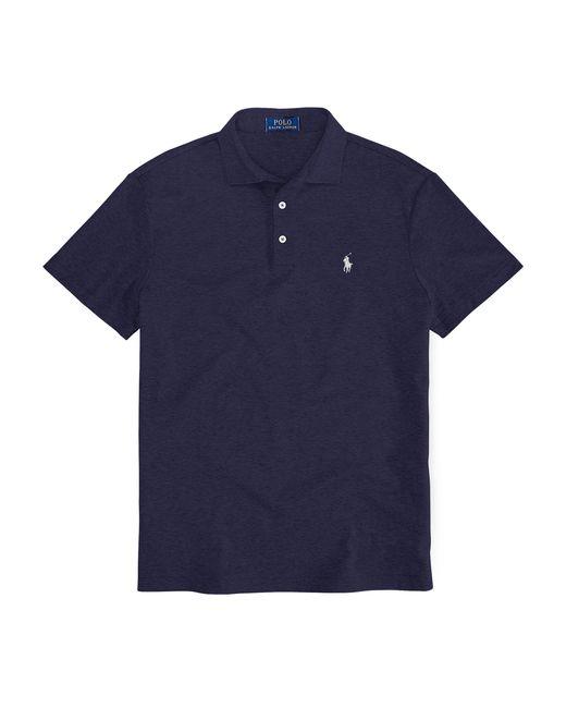 Polo Ralph Lauren | Blue Custom-fit Pima Cotton Polo for Men | Lyst
