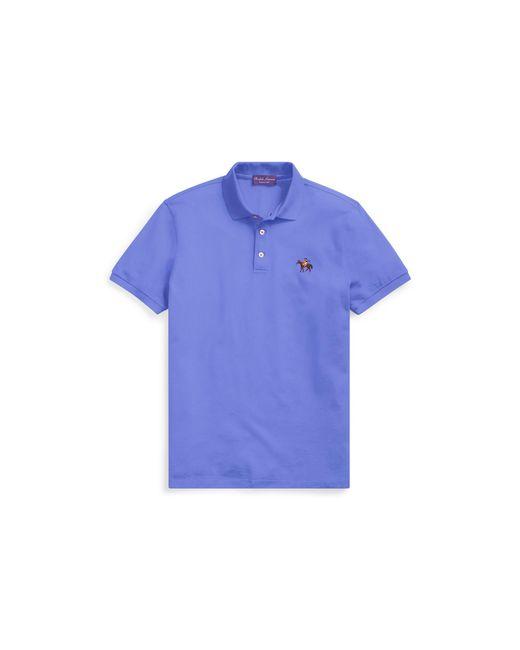 Ralph Lauren Purple Label - Blue Custom Slim Fit Piqué Polo for Men - Lyst