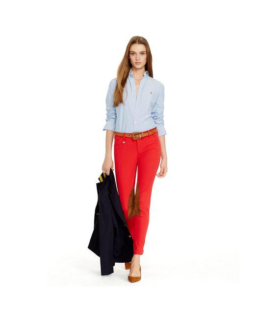 Polo Ralph Lauren | Blue Slim Fit Cotton Oxford Shirt | Lyst