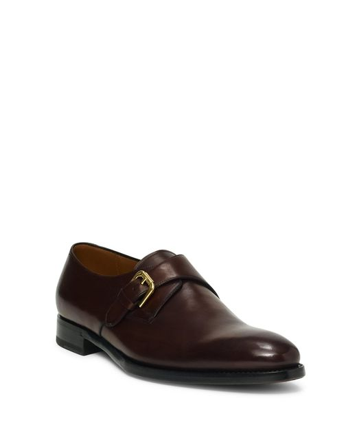 Ralph Lauren | Brown Darnell Calf Monk-strap Shoe for Men | Lyst