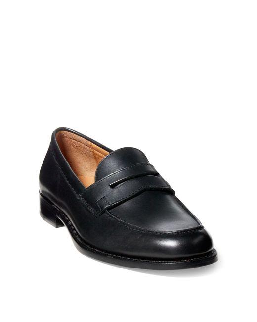 Polo Ralph Lauren - Black Agustin Calfskin Penny Loafer for Men - Lyst