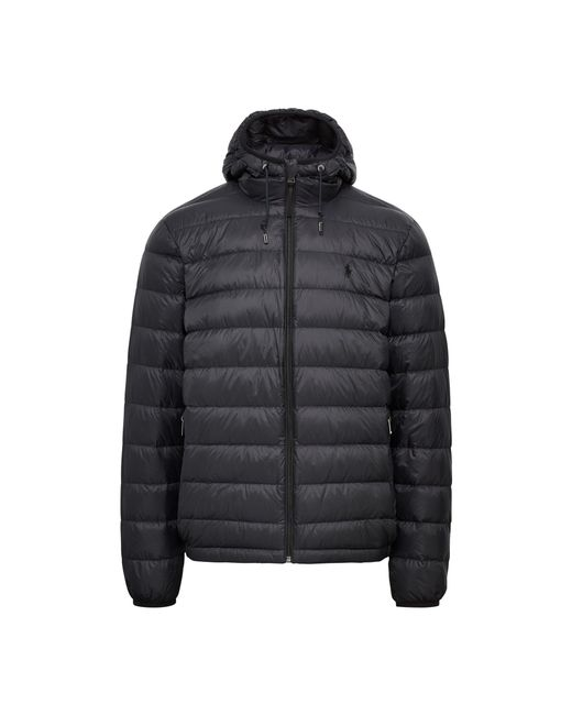 Pink Pony | Black Packable Hooded Down Jacket for Men | Lyst