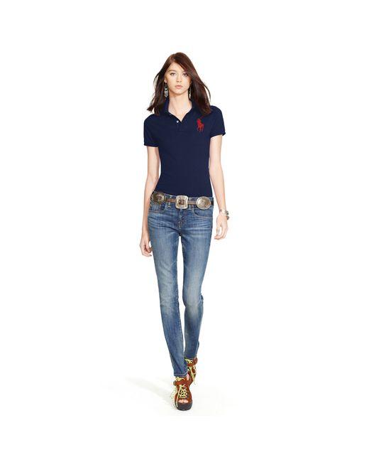 Polo Ralph Lauren | Blue Skinny Fit Big Pony Polo Shirt | Lyst