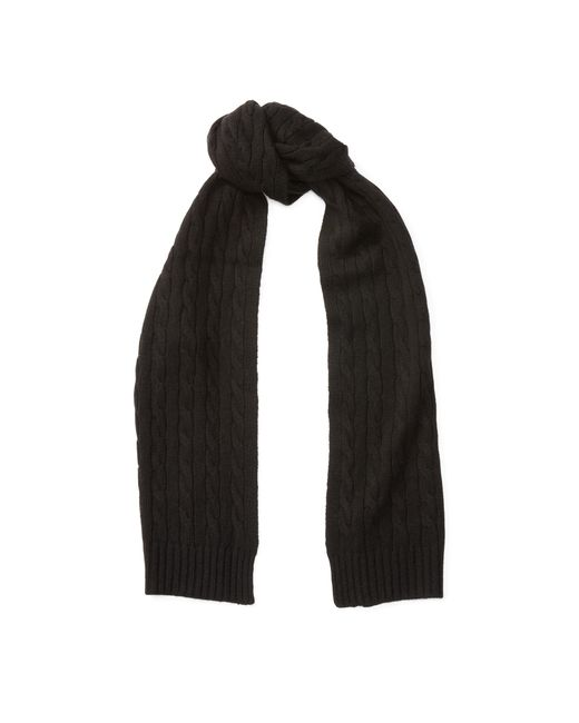 Polo Ralph Lauren | Black Cable-knit Cashmere Scarf | Lyst