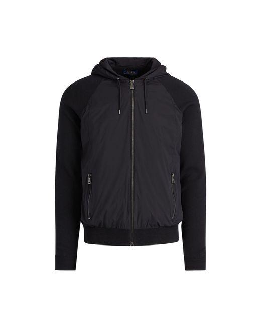 Polo Ralph Lauren | Black Paneled Cotton Hooded Sweater for Men | Lyst