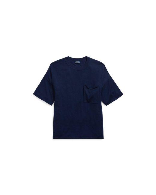 Polo Ralph Lauren - Blue Boxy Cashmere Pocket Tee - Lyst