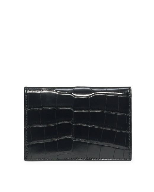 Ralph Lauren | Black Slim Alligator Card Case for Men | Lyst