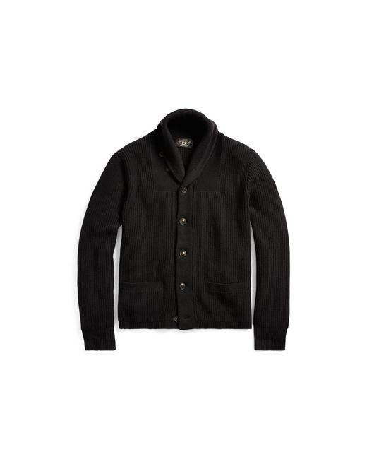 RRL - Black Cashmere Shawl-collar Cardigan for Men - Lyst