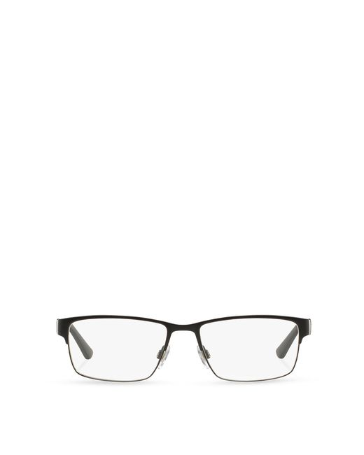 Polo Ralph Lauren | Black Striped Rectangular Eyeglasses for Men | Lyst
