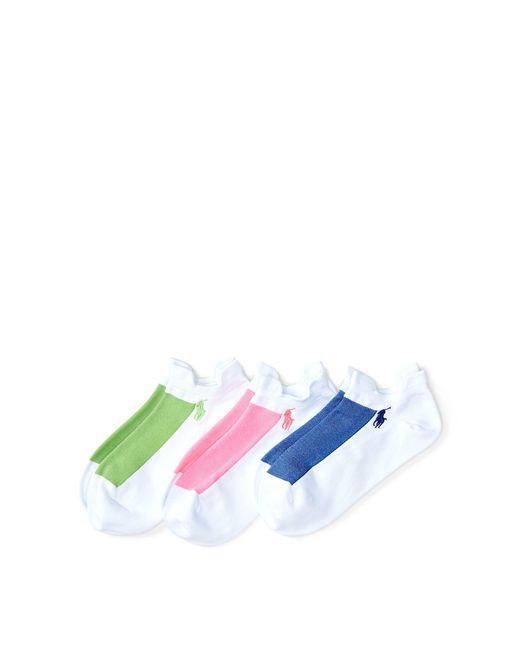 Polo Ralph Lauren - White Microfiber Sport Sock 3-pack - Lyst