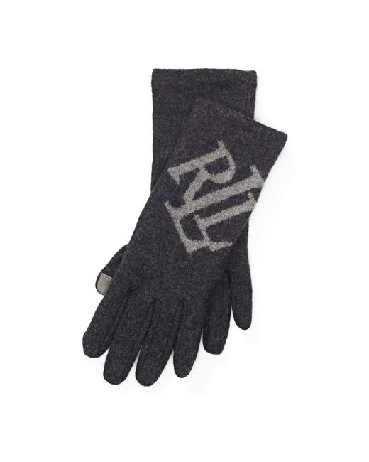Ralph Lauren | Gray Lrl Wool Touch Screen Gloves | Lyst