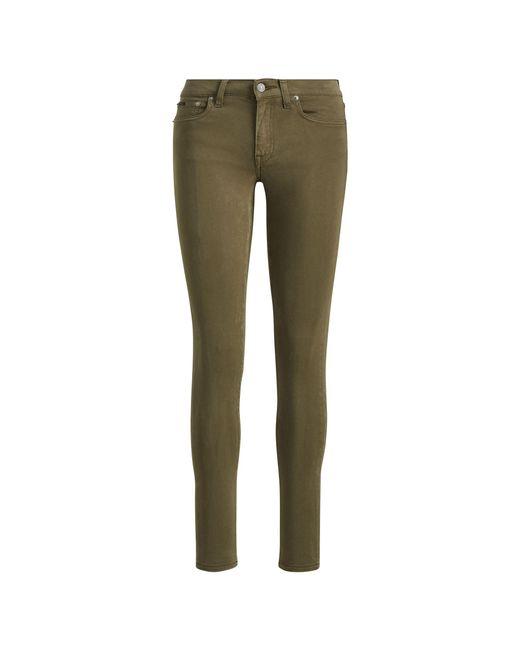 Polo Ralph Lauren - Green Tompkins Sateen Skinny Jean - Lyst