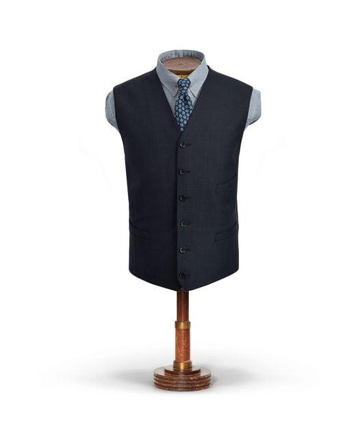 RRL - Blue Birdseye Wool Vest for Men - Lyst