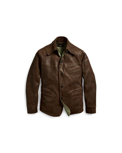 Rrl Leather Car Coat in Brown for Men - Save 41% | Lyst