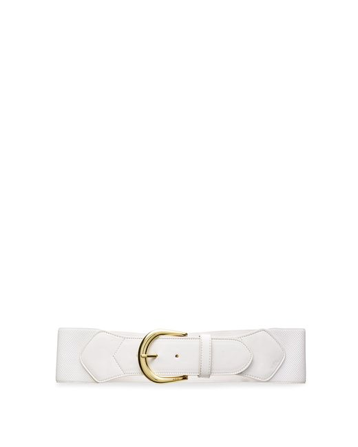 ralph wide stretch belt in white bright white lyst