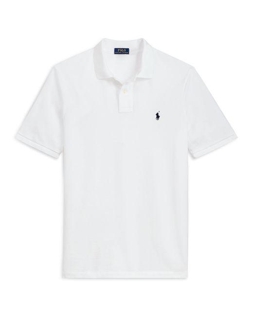 Polo Ralph Lauren - White Custom Slim Fit Cotton Polo for Men - Lyst