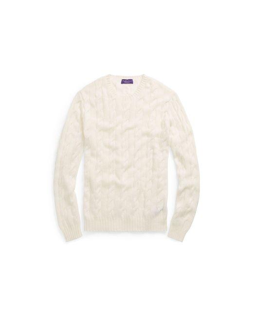 Ralph Lauren Purple Label | Natural Cable-knit Cashmere Sweater for Men | Lyst