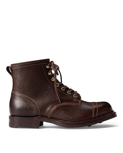 RRL - Brown Pebbled Leather Boot for Men - Lyst
