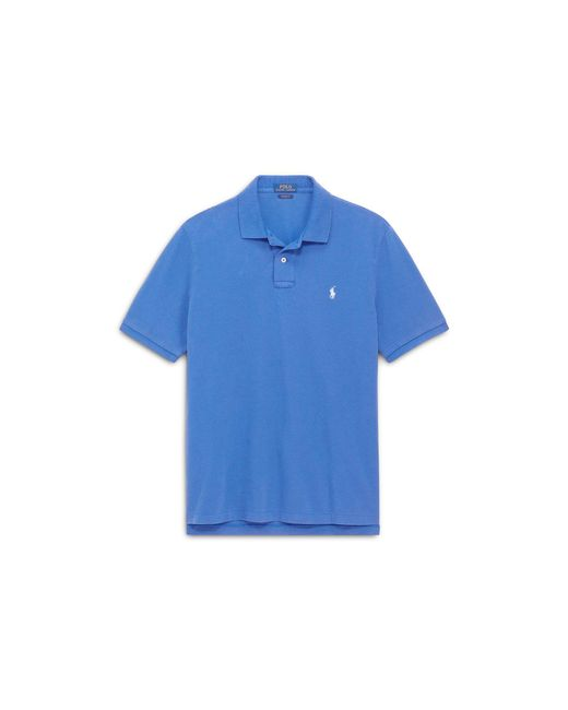 Polo Ralph Lauren - Blue Custom Slim Fit Mesh Polo for Men - Lyst