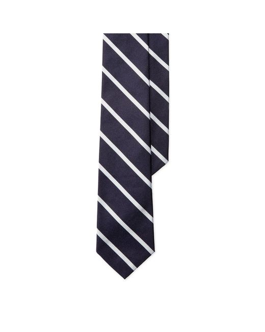 Polo Ralph Lauren - Blue Striped Silk Repp Tie for Men - Lyst